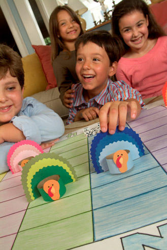kids playing turkey game