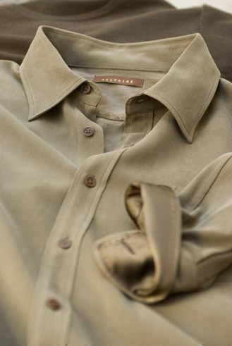 close up of a mans shirt